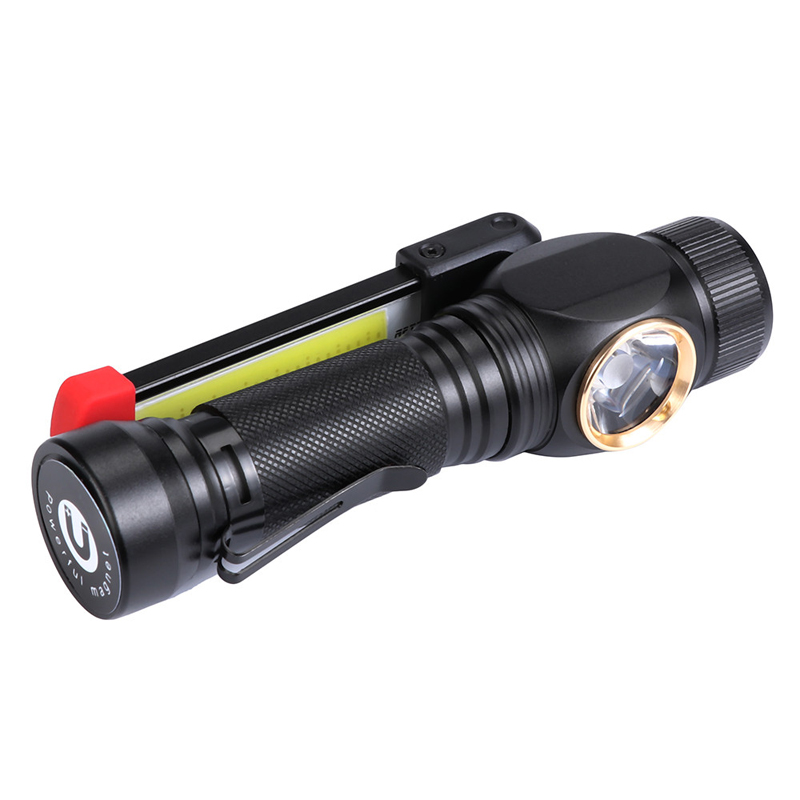 XANES W550 LED+COB 7Modes 360 Rotated+180 Foldable Head Magnetic Tail USB Rechargeable Flashlight Work Light