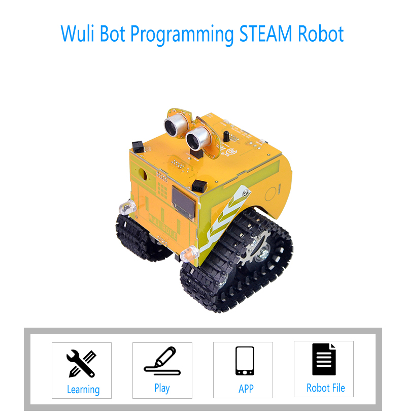 Xiao R Wuli Bot Scratch STEAM Programming Robot APP Remote Control Arduino UNO R3 for Kids Students