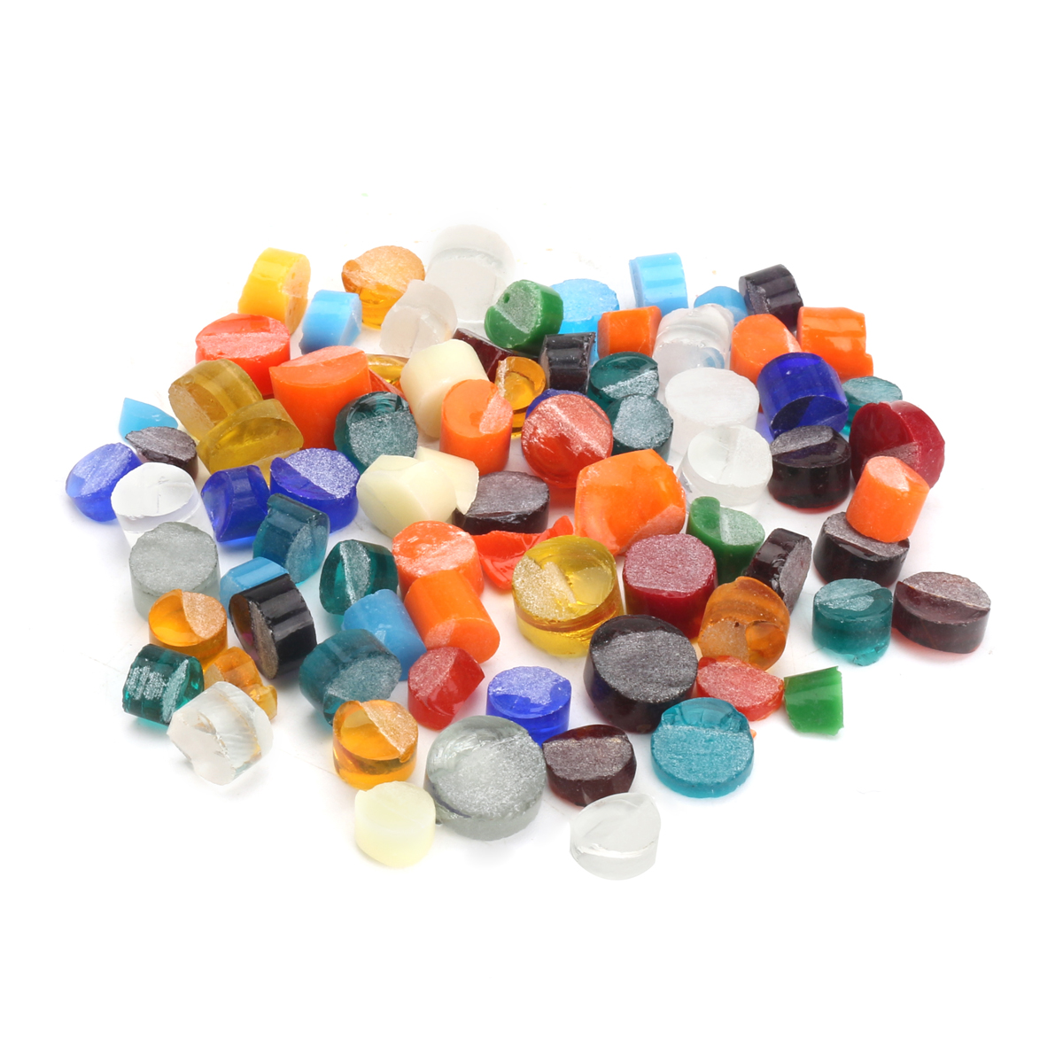 60g Multicolor Fusing Glass Frits Fusible Cnfetti Lampwork Dots for Microwave Kiln DIY Jewelry