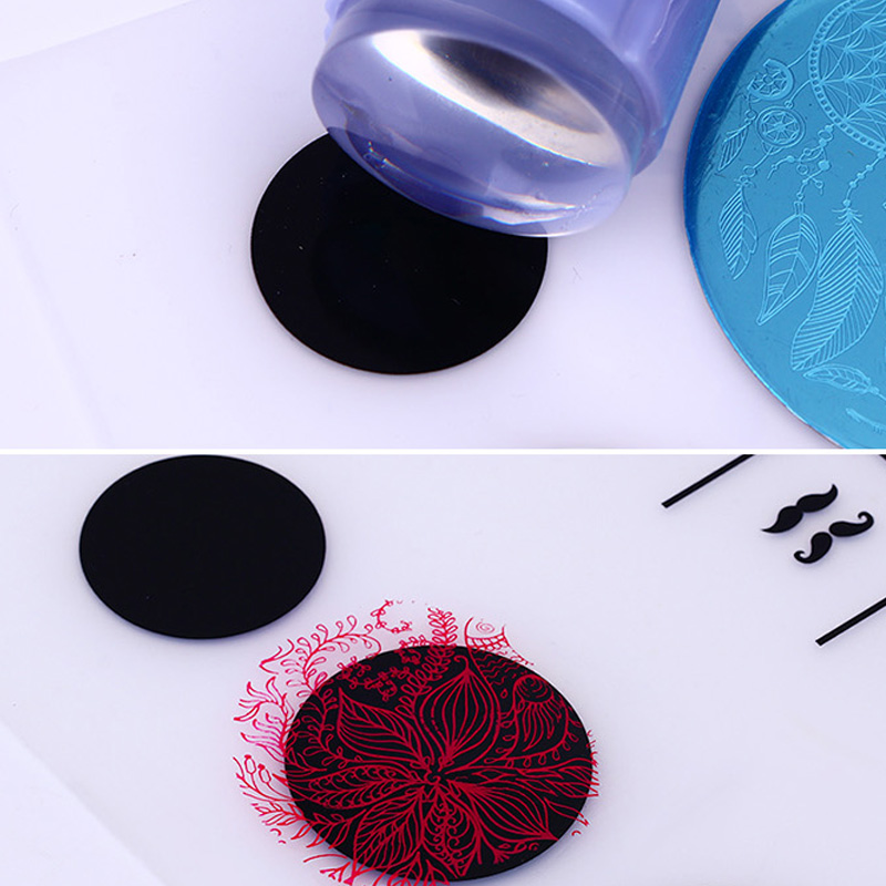 1pc Washable Nail Art Tips Practice Silicone Mat Pad