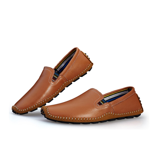 US Size 6.5-11.5 Men Leather Casual Outdoor Driving Slip On Flats Loafers Shoes