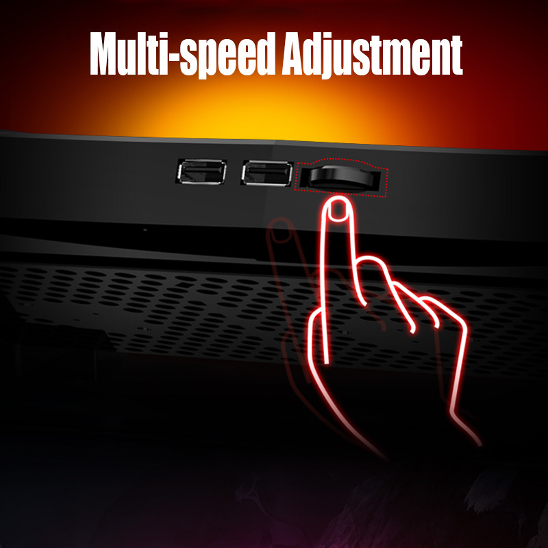 Portable Laptop Notebook Ultra-Slim Cooling Pad With 3 Fans Dual USB Interface Quiet Stand Cooler