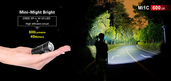 Klarus Mi1C Xp-l Hi V3 600Lumens Mini-might Brightness EDC LED Flashlight