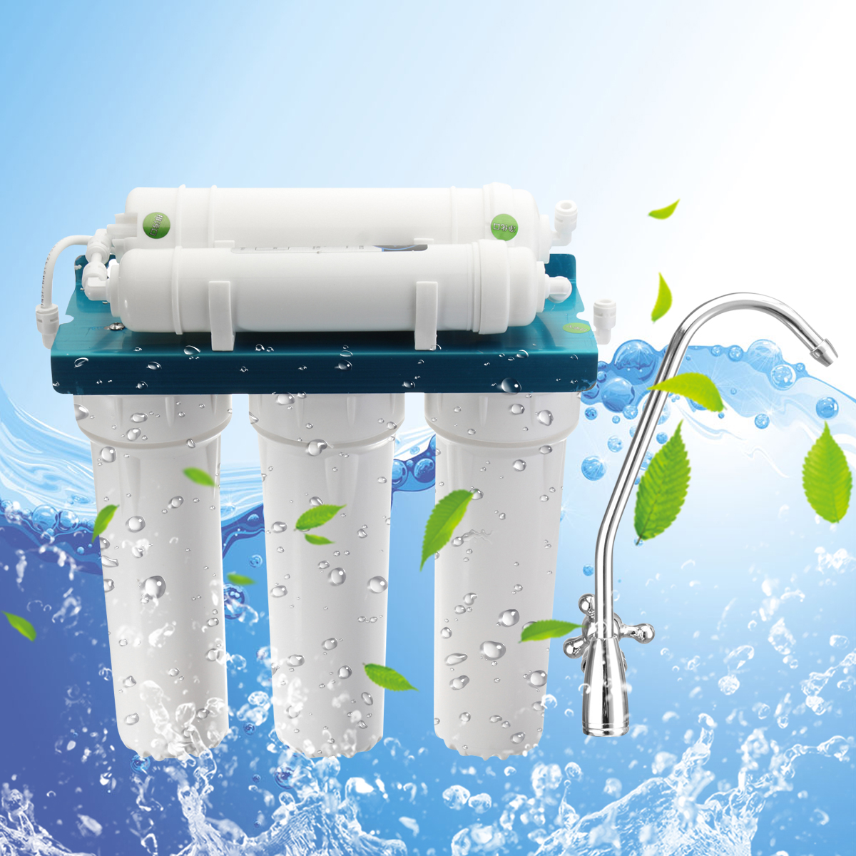 5-Stages Water Purifier Reverse Osmosis Filtration Drinking Water Filter System Ultra Safe