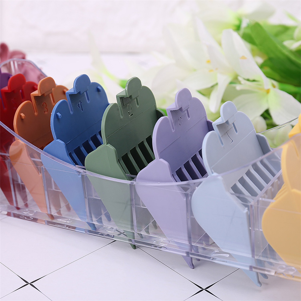 8pcs Colorful Limit Comb Set Attachment Tool For WHAL Electric Hair Clipper Cut