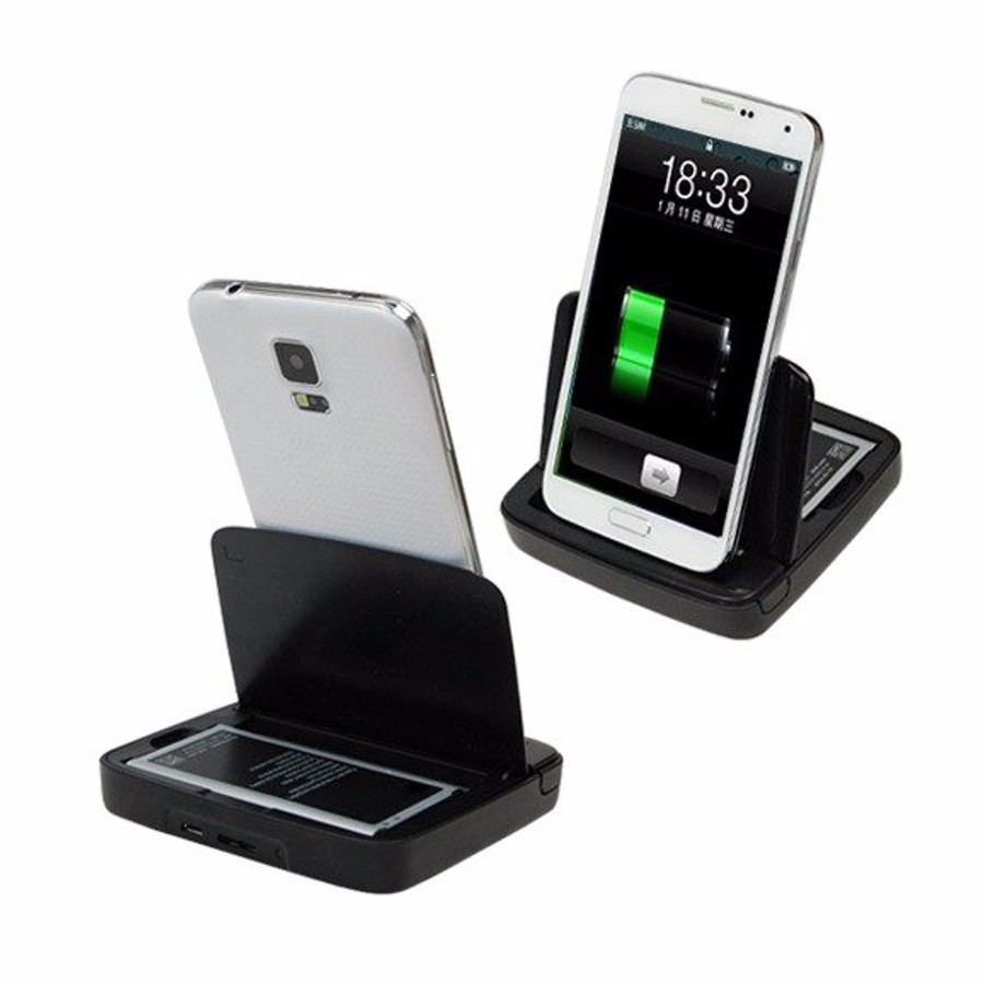 Spare Battery Dual Dock Cradle Charger for Samsung Galaxy S5 i9600 Note 3 N9000