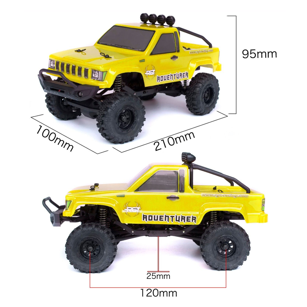 RGT RC Car 1/24 136240 4WD 4x4 Lipo mini Monster Off Road Truck RTR Rock Crawler With Lights - Photo: 12