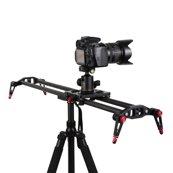Professional 80cm/32 inch Carbon Fiber Rail Track Slider Stabilizer for DSLR Camera Video DV