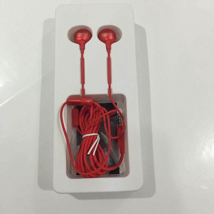 Xiaomi QCY QM05 3.5mm Jack In-ear Earphone Round Heavy Bass Stereo Headphone with Mic for iPhone Samsung