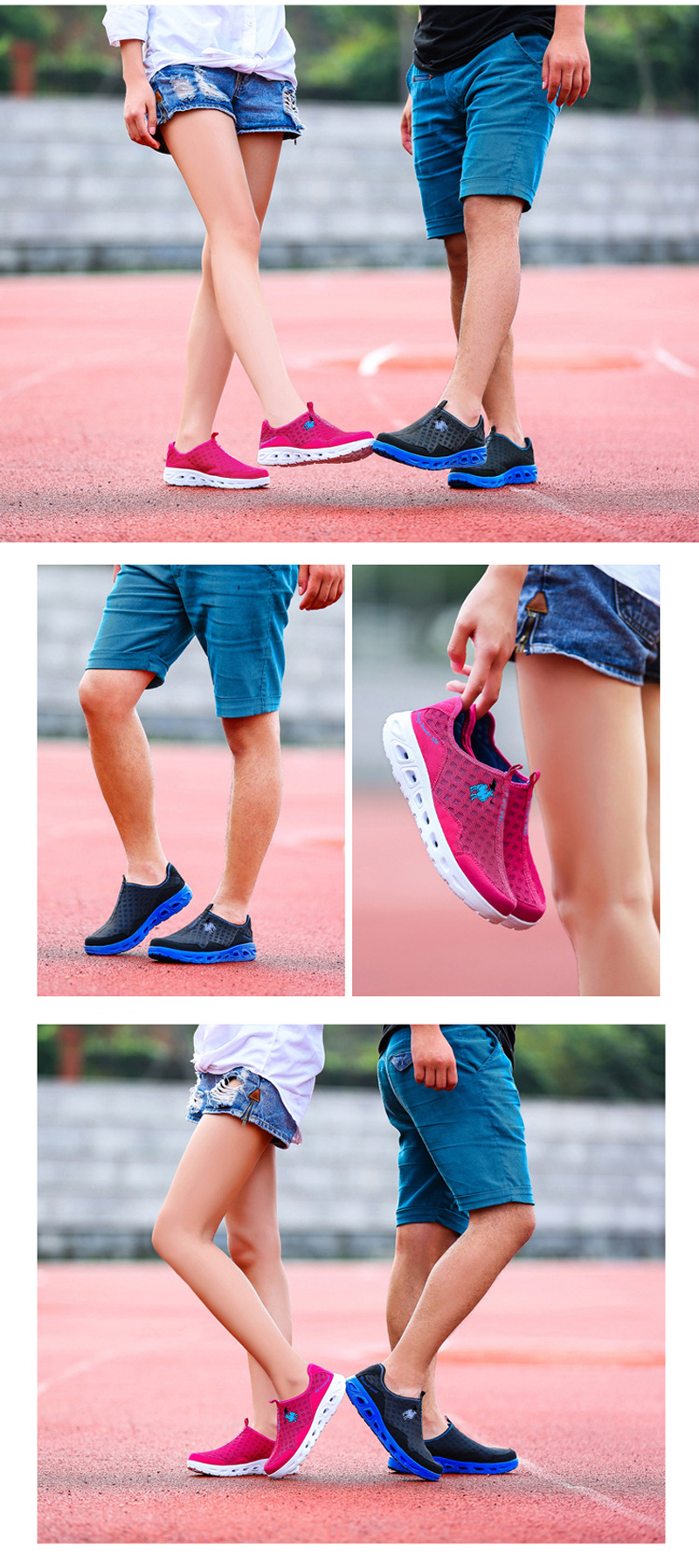 Summer Women Anti-slip Socks Sneakers Breathable Mesh Casual Shoes Slip-on Sport Beach Shoes
