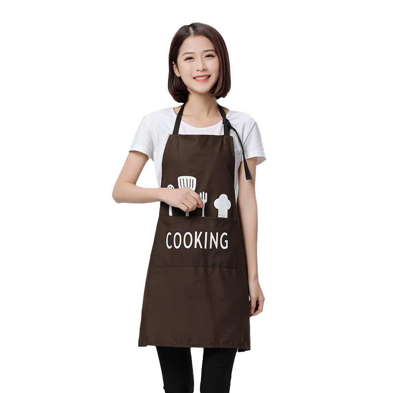 Women Men Apron Commercial Restaurant Home Bib Spun Poly Cotton Kitchen Aprons