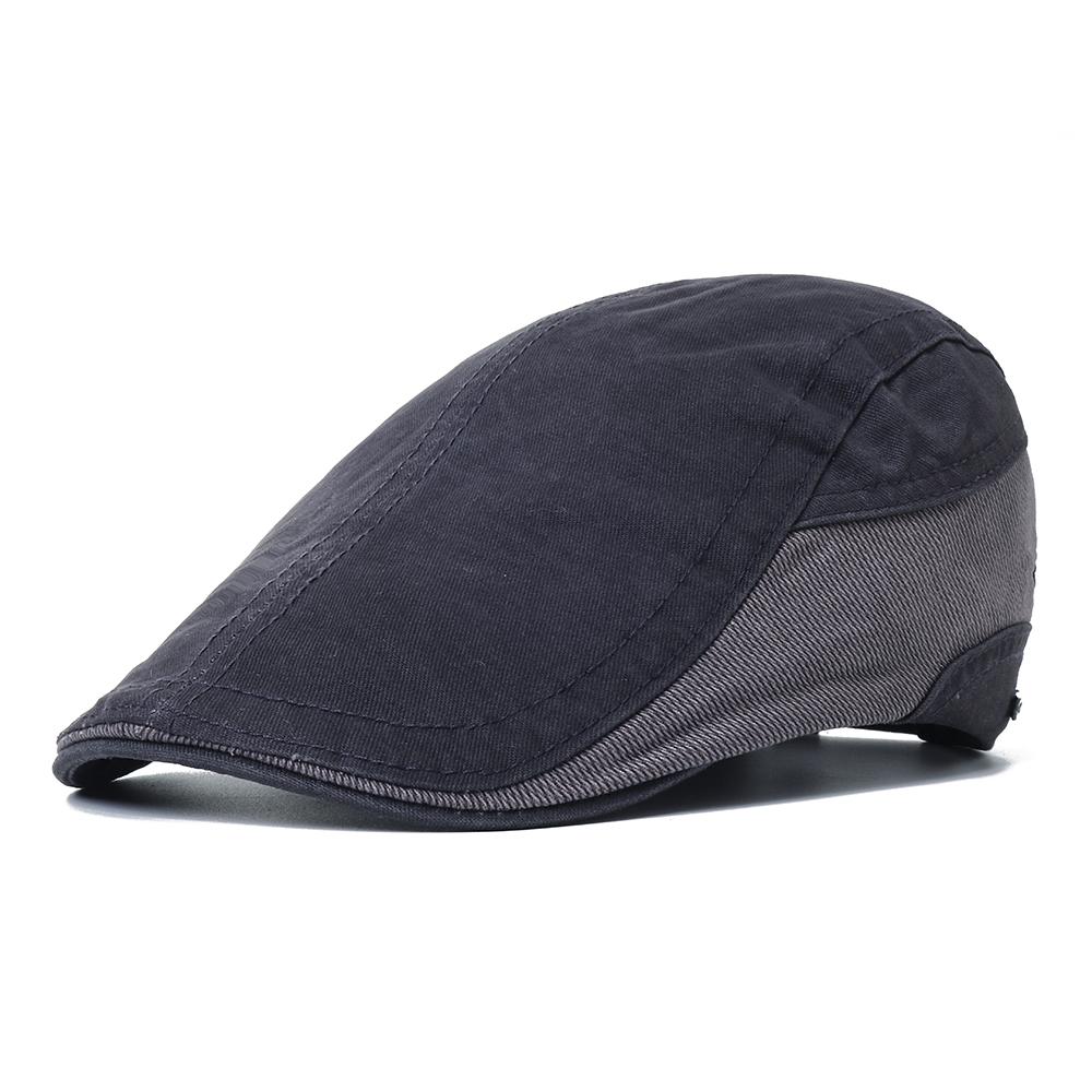 Mens Outdoor Summer Patchwork Breathable Beret Hat