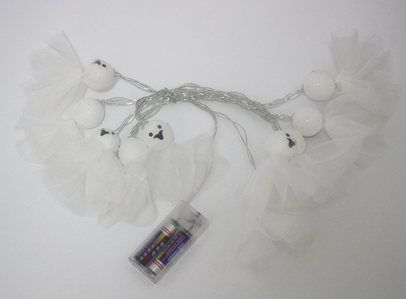 Battery Powered 1.65M 10LEDs Elf Ghost Indoor Fairy String Light For Halloween Christmas