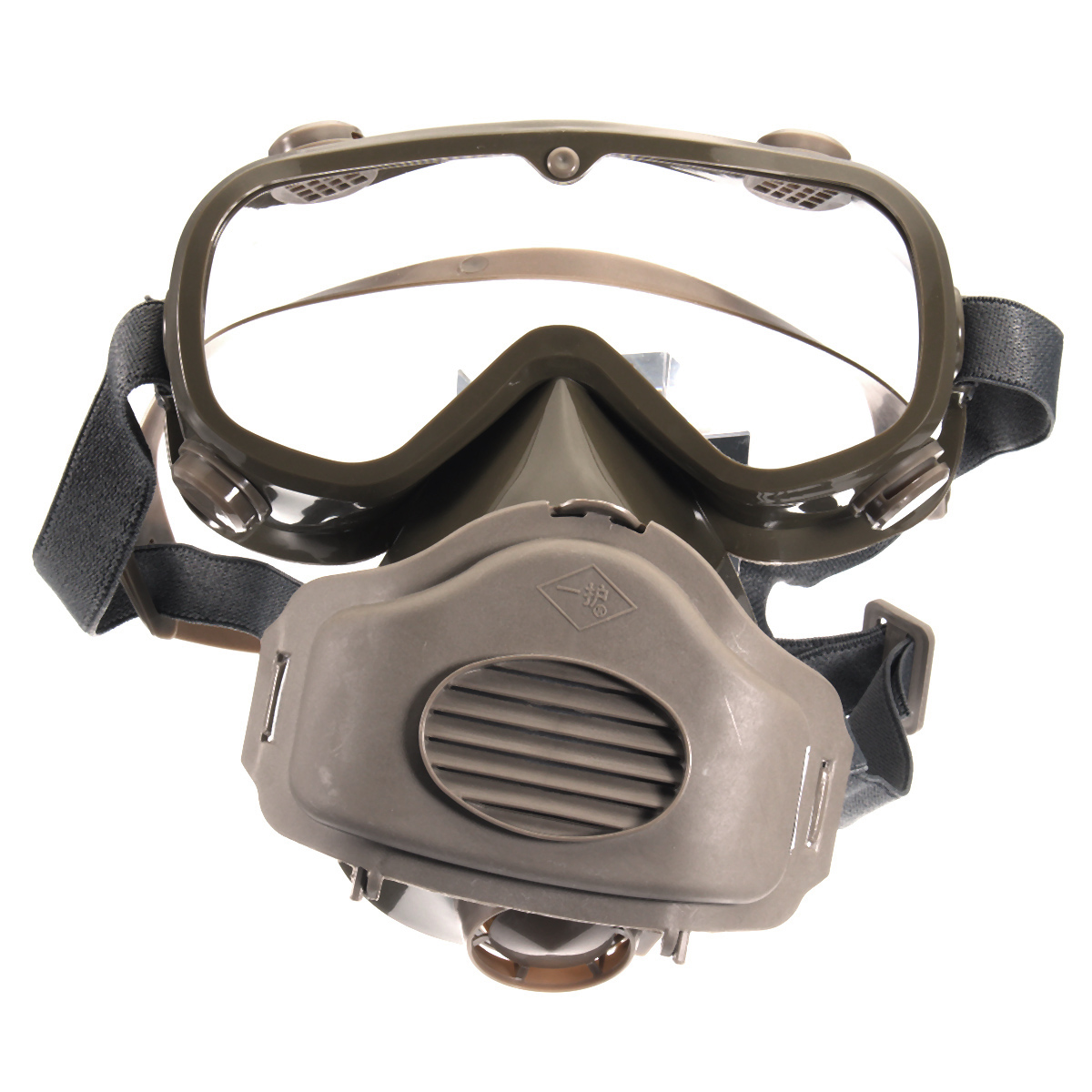 Respirator Dust Mask Half Facepiece Reusable Paint Breathing Gas Protection