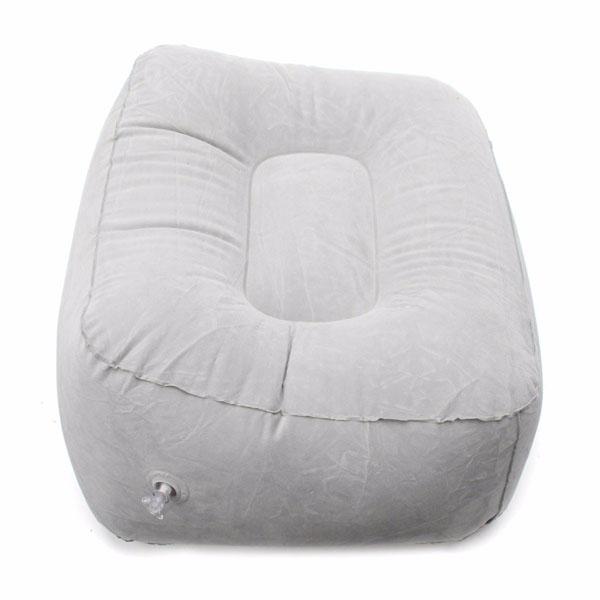 Inflatable Portable Chair Outdooors Plush Pneumatic Footrest Sofa Stool Cushion Home Decor