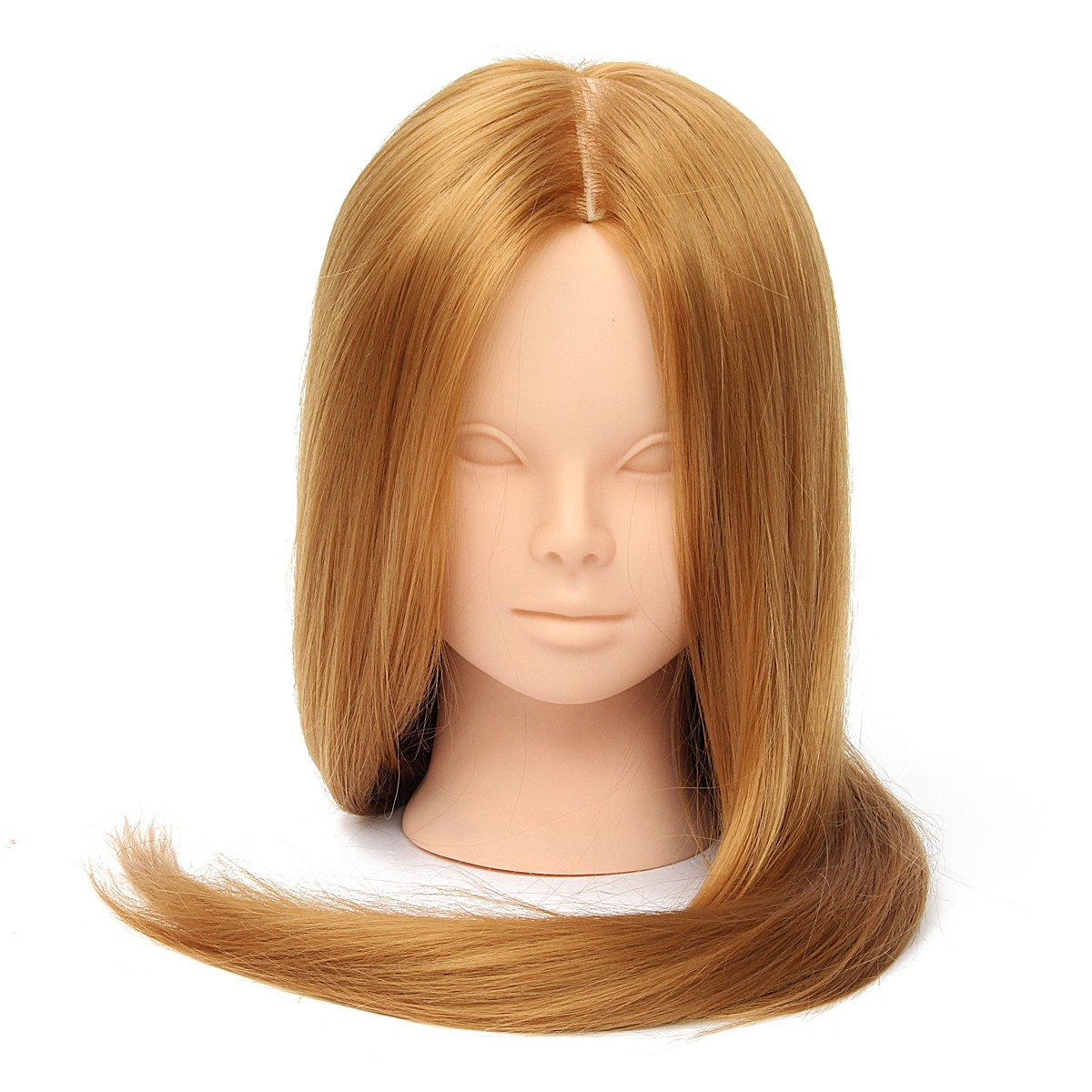 26 Long Hair Training Mannequin Head Model Hairdressing Makeup Practice with Clamp Holder