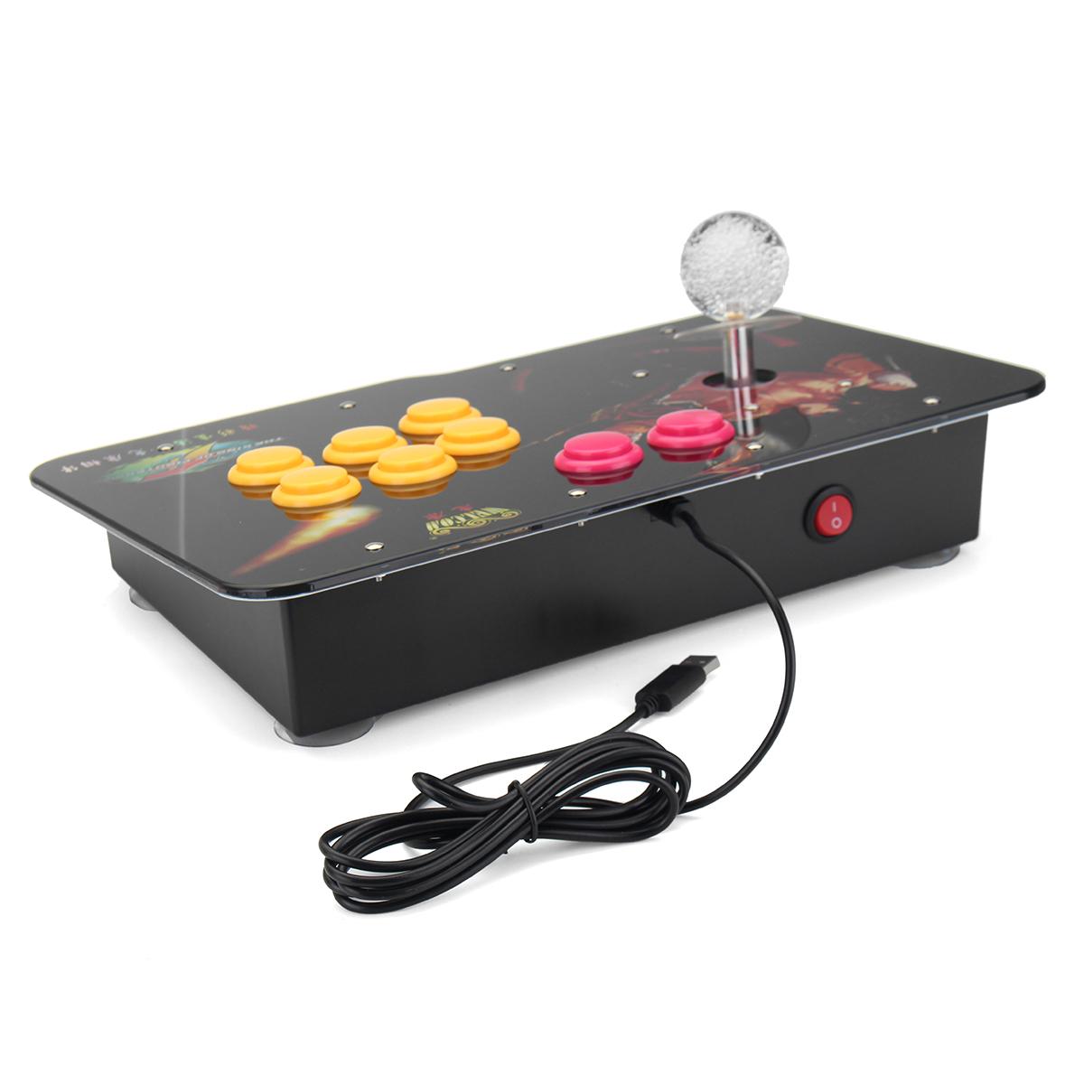 Arcade Stick Video Game LED Light USB Joystick Controller Rocker For PC Phone