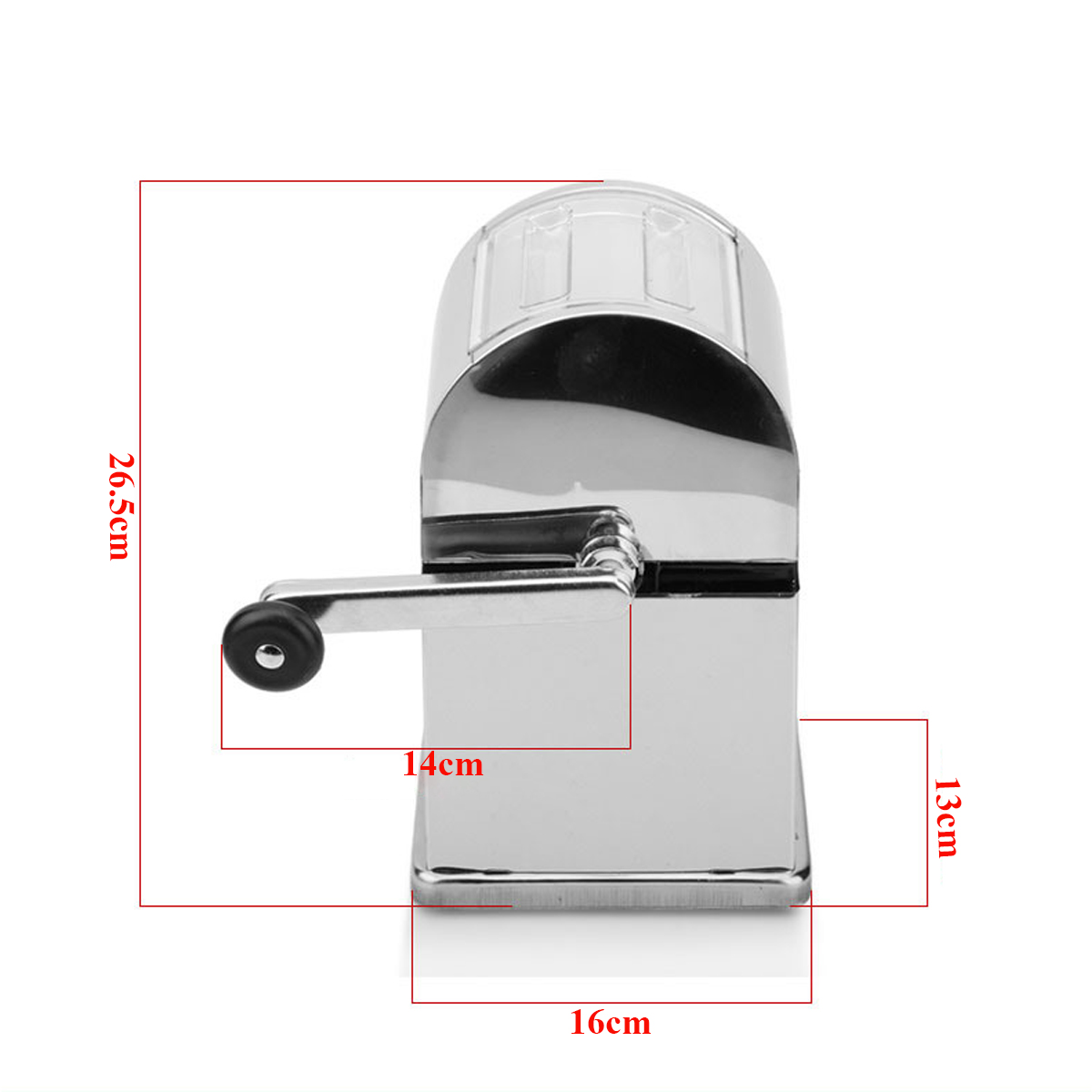 Stainless Steel Home Bar Manual Ice Crusher Shaver Machine Tray & Scoop Maker