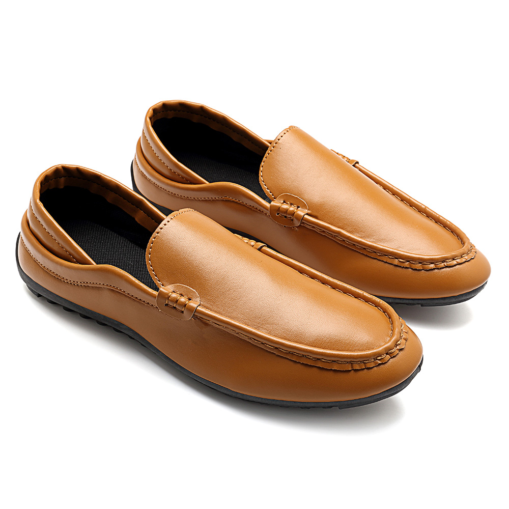 Men Casual Soft Sole Leather Slip On Flat Loafers Driving Sh