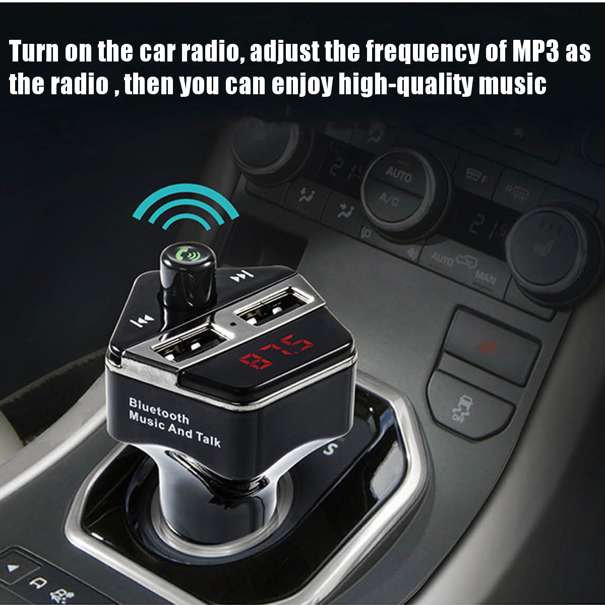 bluetooth Wireless Car Kit Radio MP3 Player FM Transimittervs USB Charger Hands Free