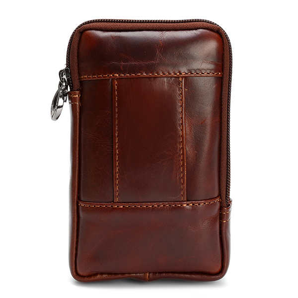 Men Retro Leather Waist Phone Bag Waterproof Case Belt Pouch for 4.7/5.5 inch Phones
