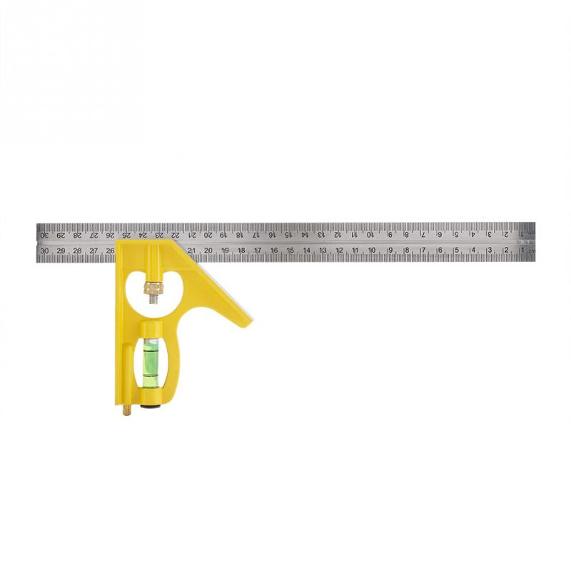 Right Angle Ruler Square 300mm Multi-functional Adjustable Combination Square Right Angle Ruler Engineer Measuring Tool