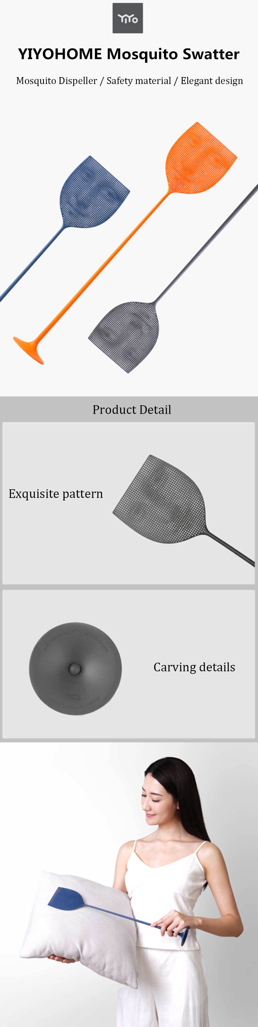 YIYOHOME Mosquito Swatter Mosquito Dispeller Repeller Bug Insect Flies Killer Racket From Xiaomi youpin