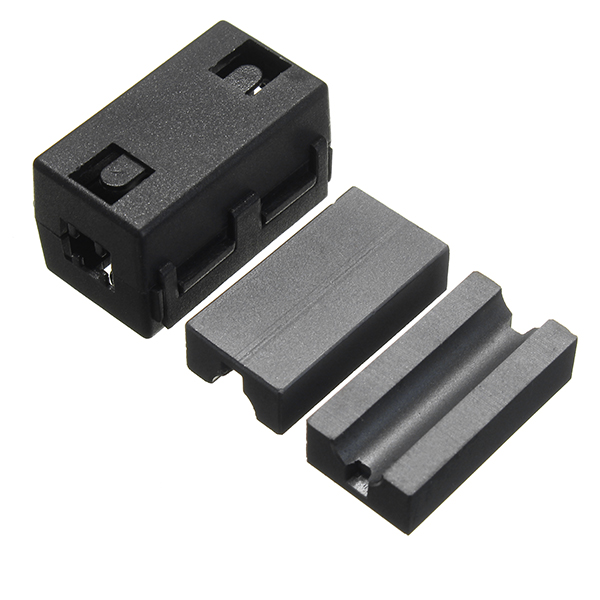 Black Cable Wire Snap Clamp Clip RFI EMI EMC Noise Filters Ferrite Core Case 6.5mm