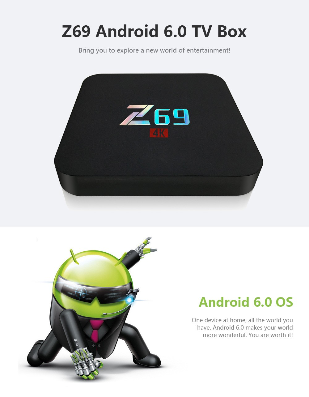Z69 S905X 2GB RAM 16GB ROM TV Box