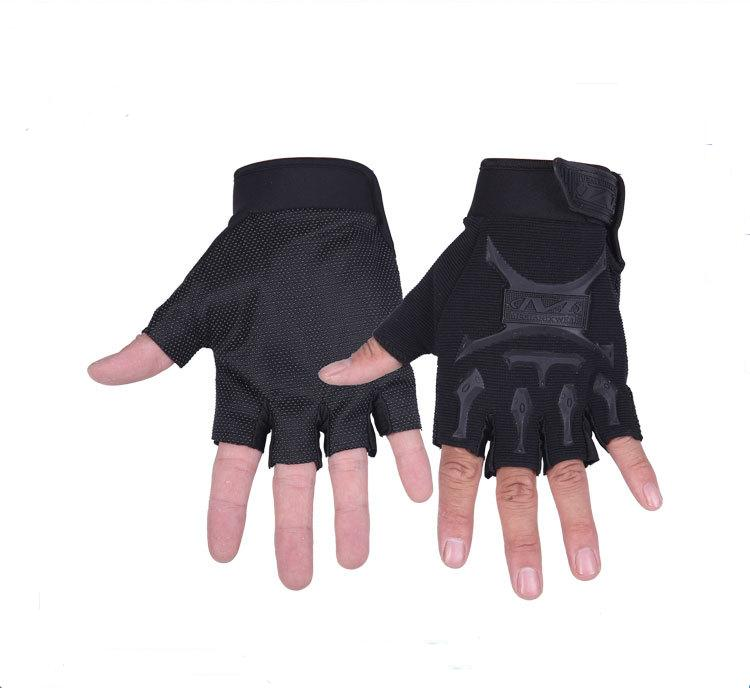 FAITH PRO Hunting Tactical Half Finger Military Camouflage Cooler Seals Bike Anti Skid Gloves