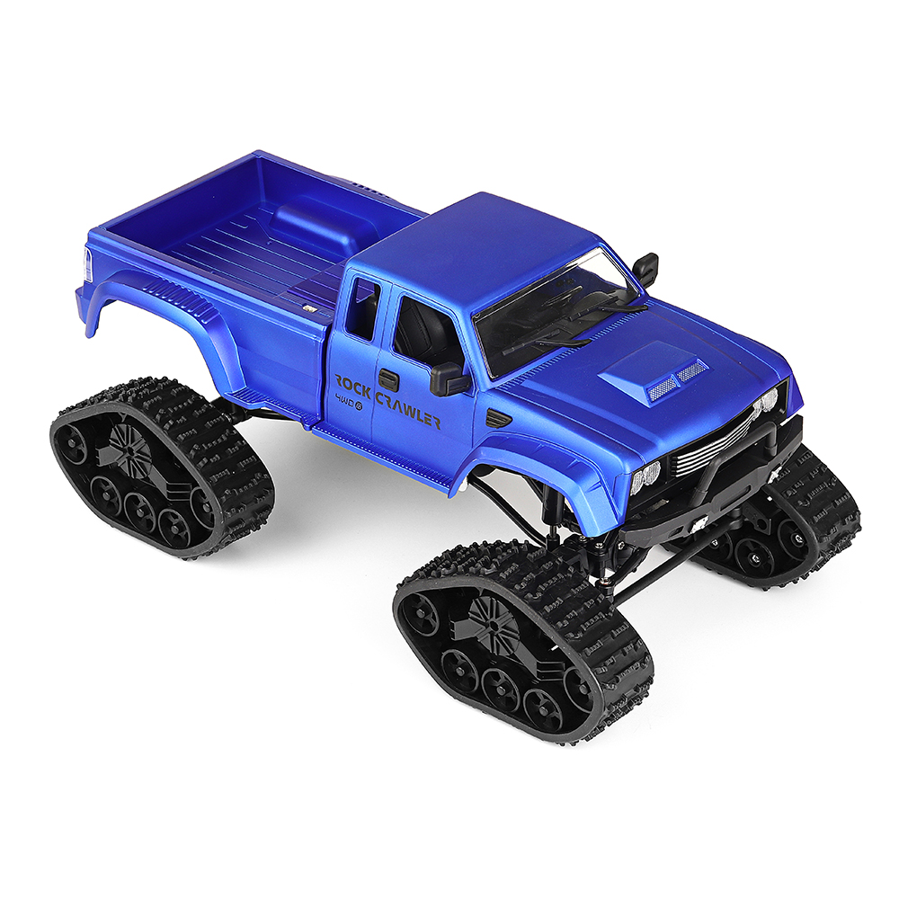 Fayee FY002 1/16 2.4G 4WD Rc Car Military Truck Track Wheel Rock Crawler W/ LED Light RTR Toy