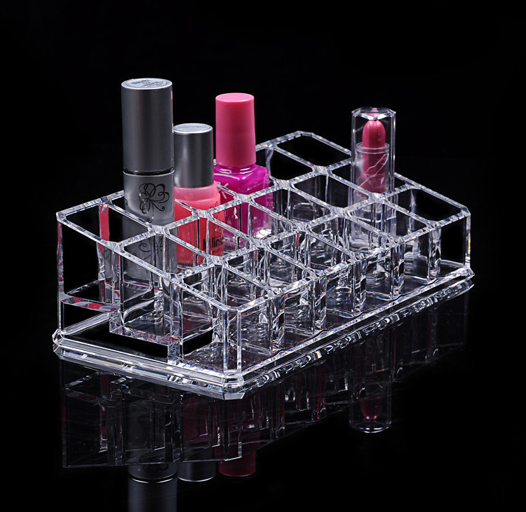 18/36 Lipstick Holder Jewelry Box Cosmetic Organizer Storage Boxs Makeup Display Stand Case