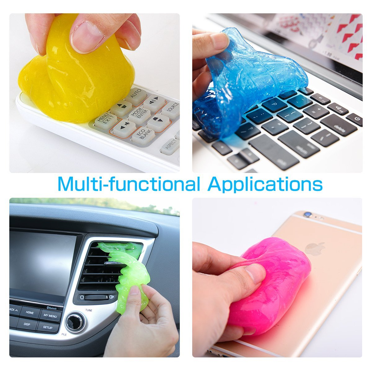 MECO 4PCS Keyboard Cleaning Glue Dust Cleaner Tool Soft Glue Clean Gel