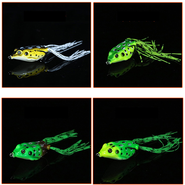 ZANLURE 1PC 15g 6.5cm Rubber Fishing Lure Frog Artificial Ray Frog Fishing Soft Bait Hooks