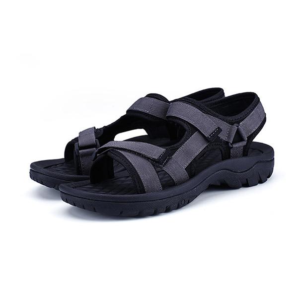 Men Breathable Adjustable Hook Loop Outdoor Sandals