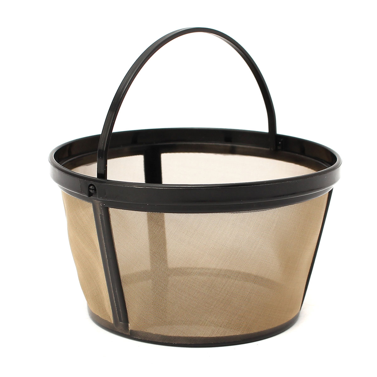 Reusable Gold Coffee Filter Basket for 10-12 Cup Coffee Maker Making Machine
