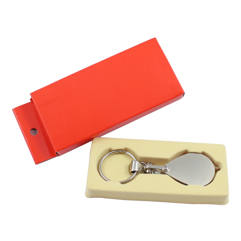 10X Pocket Magnifier Portable Full Metal Rotary Keychain