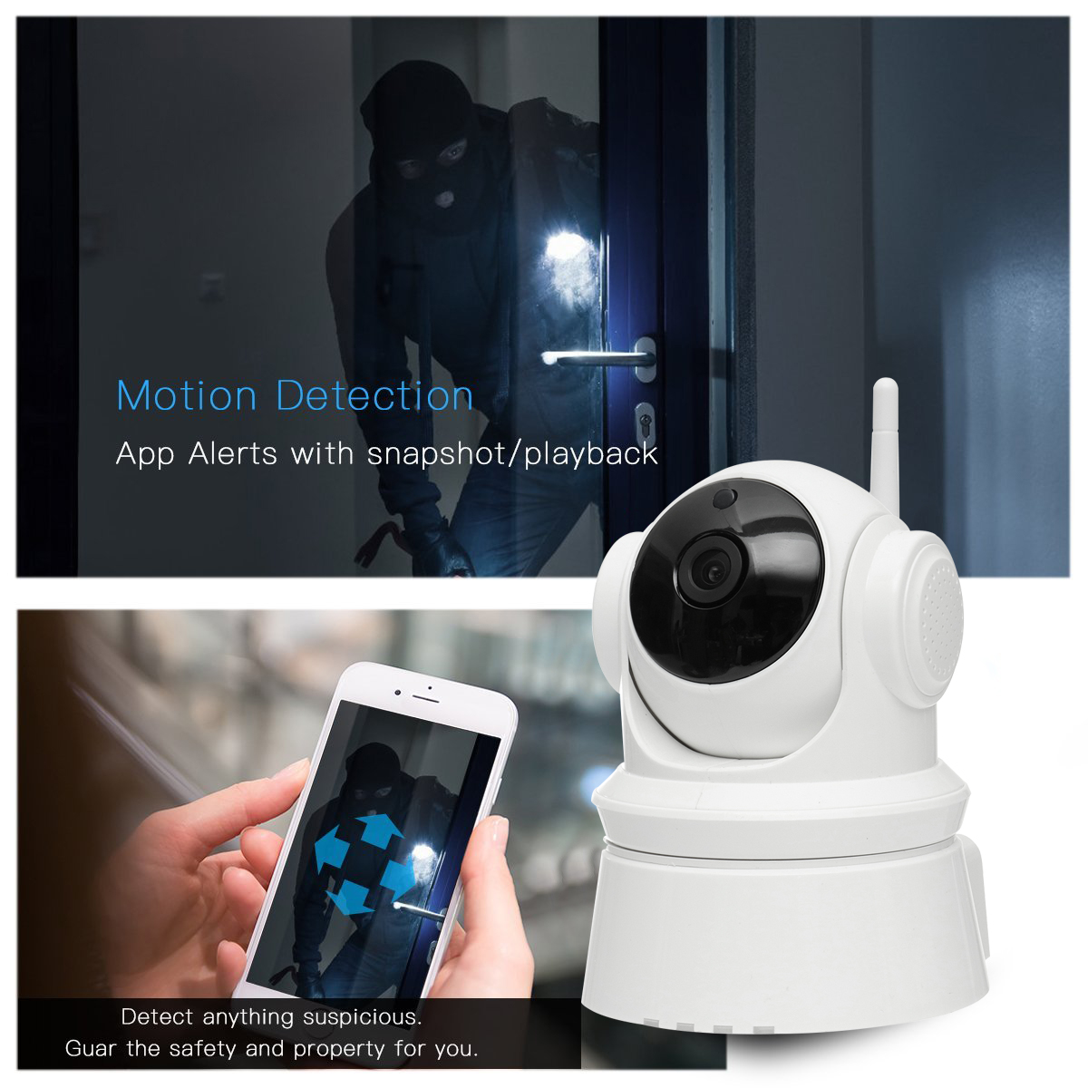 1080P Wireless WiFi HD IP CCTV Security IR Camera APP Remote Control Two Way Audio