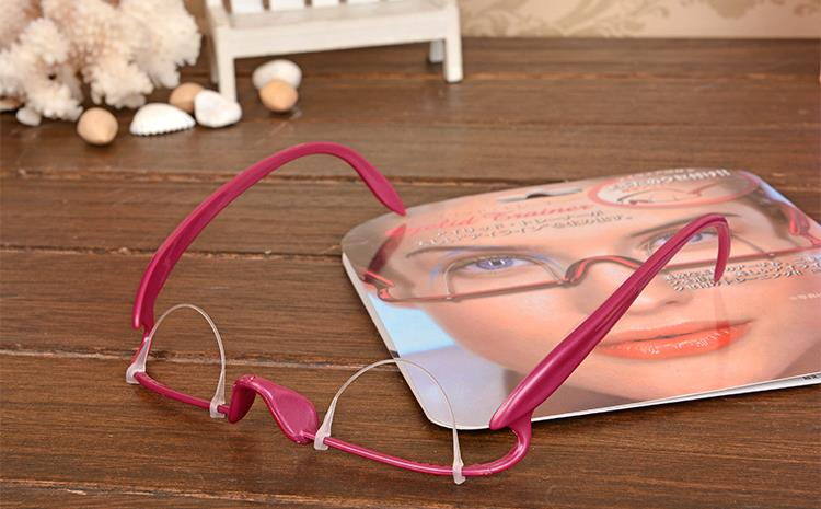 Pink Double Eyelid Trainer Double Fold Eye Lid Training Exercise Glasses Makeup Tool Charming Eyes