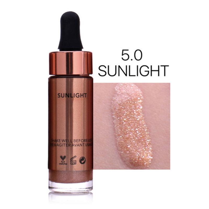 Metallic Highlighter Liquid Make Up Cosmetic Concealer Shiny Glow Shading Long Lasting