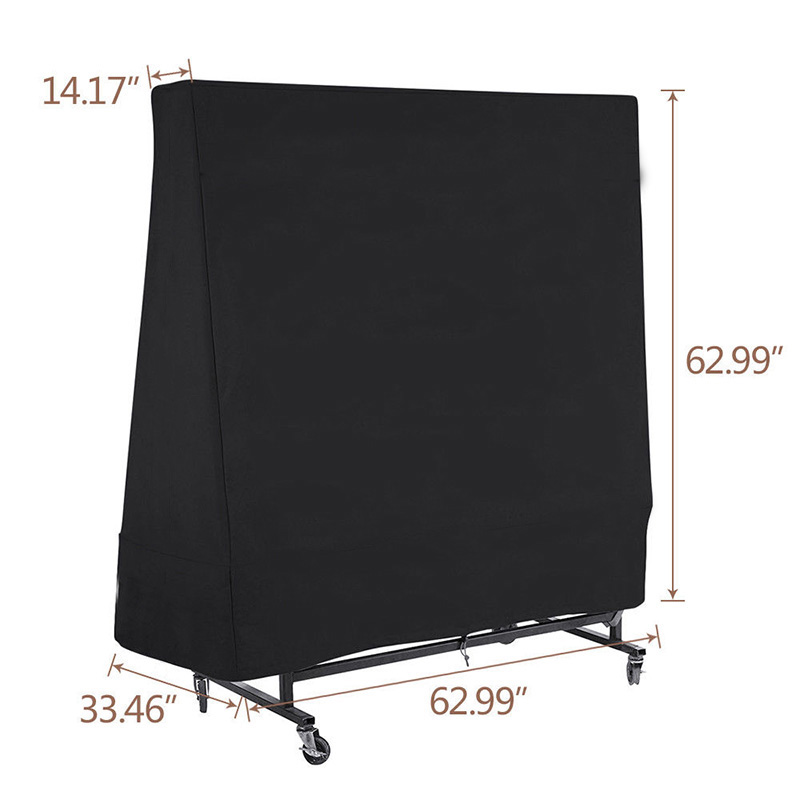 300D Heavy Duty Waterproof Outdoor Table Tennis Ping Pong Tables Cover Protector