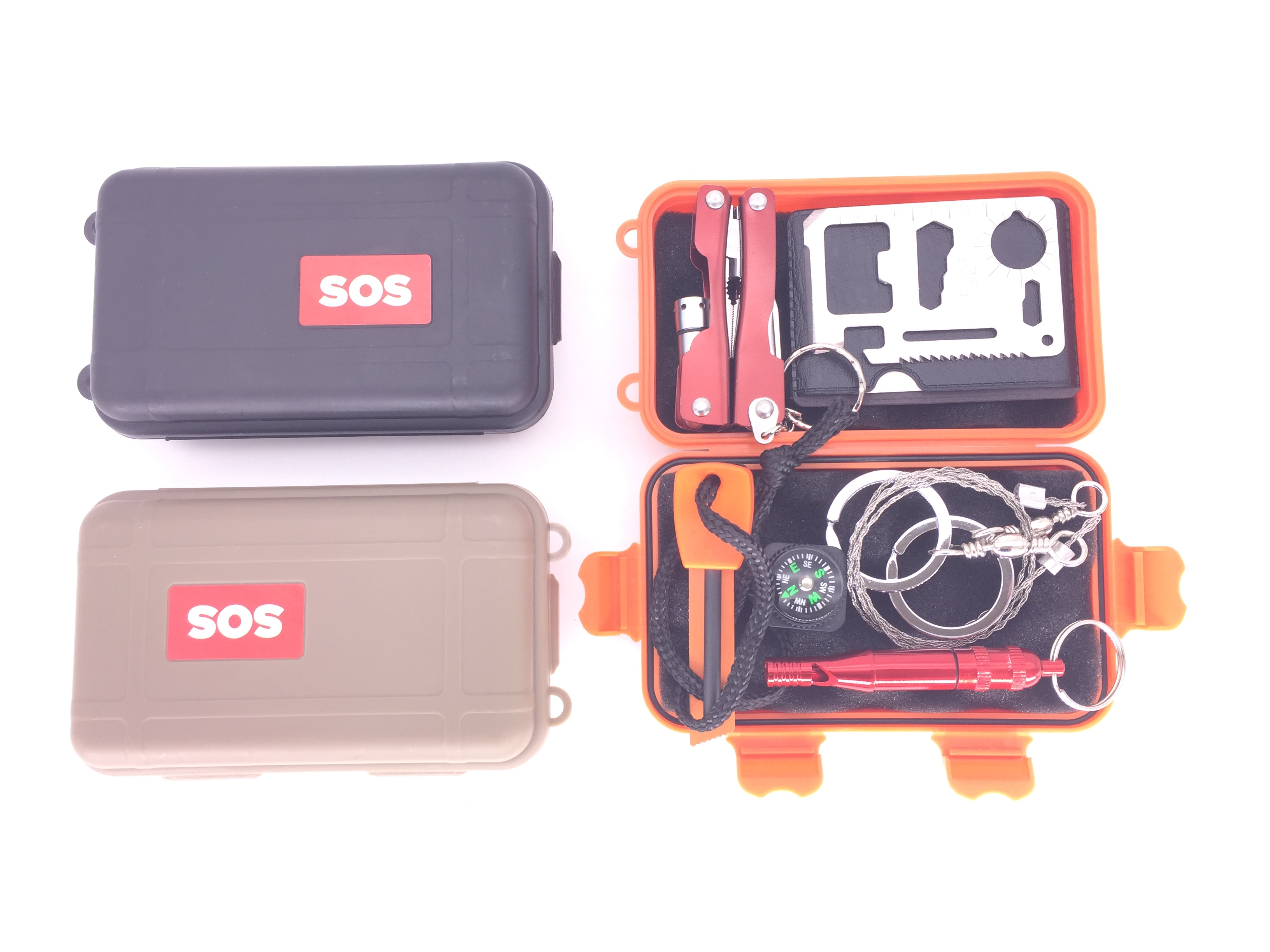 Outdoor Multifunction Emergency Survival Kit Outdoor SOS Equipment Tool