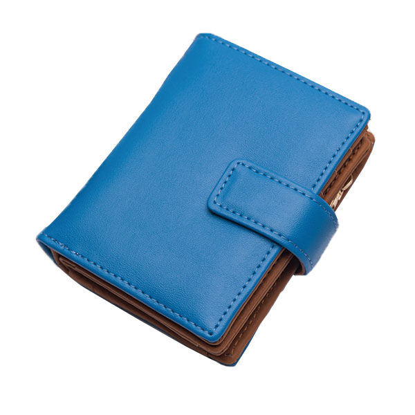 Genuine Leather Short Wallets Candy Color Hasp Purse Card Holder Coin Bags