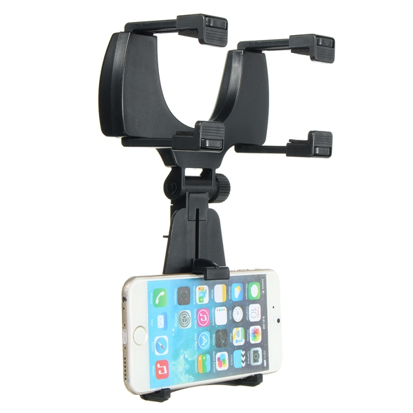 Universal Car Phone Holder 360 Degrees Rear View Mirror Mount Automobiales Scaffold