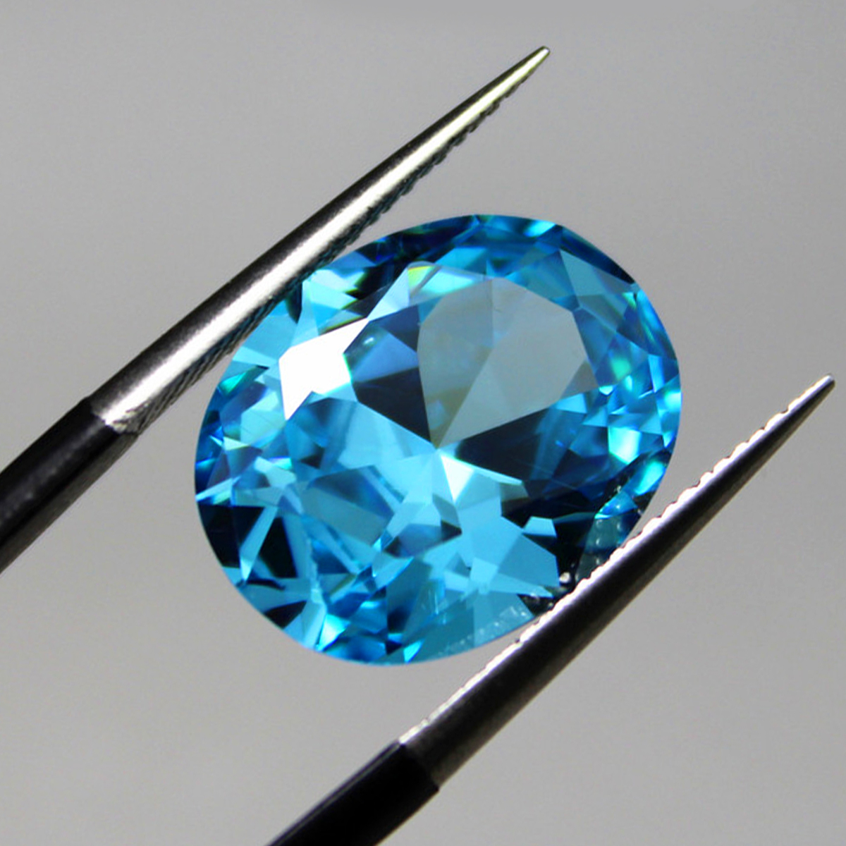 10x12mm Diamond Oval Light Blue Artificial Zircon Jewelry DIY Making Loose Gemstone Decoration