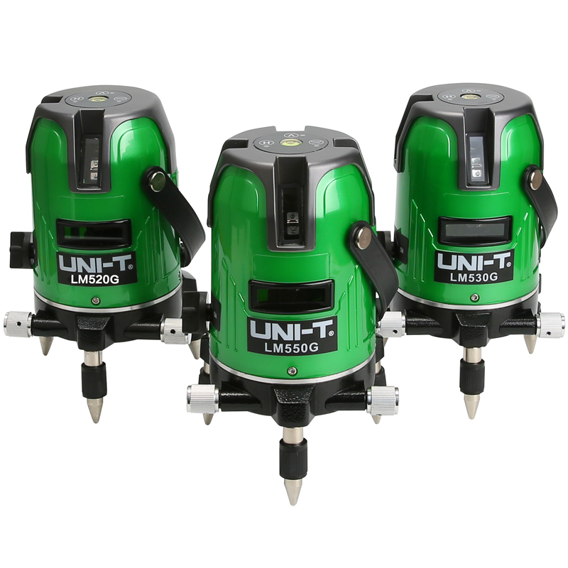 UNI-T LM520G 2 Lines Green Laser Level 360 Degree Self-leveling Cross Laser Level Strengthen Brightness Touch Button