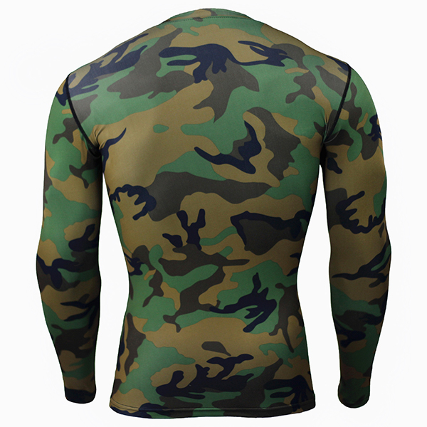 Camouflage Running Sports Compression Long Sleeve T-shirt