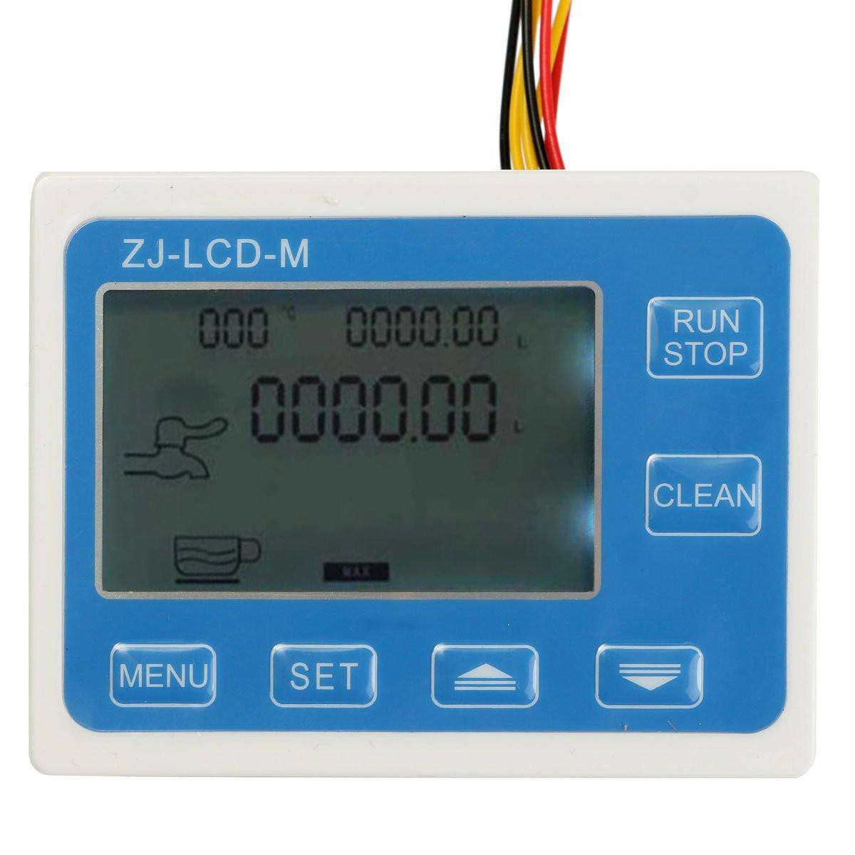 ZJ-LCD-M LCD Digital Display Water Flow Sensor Meter Quantitative Flow Meter