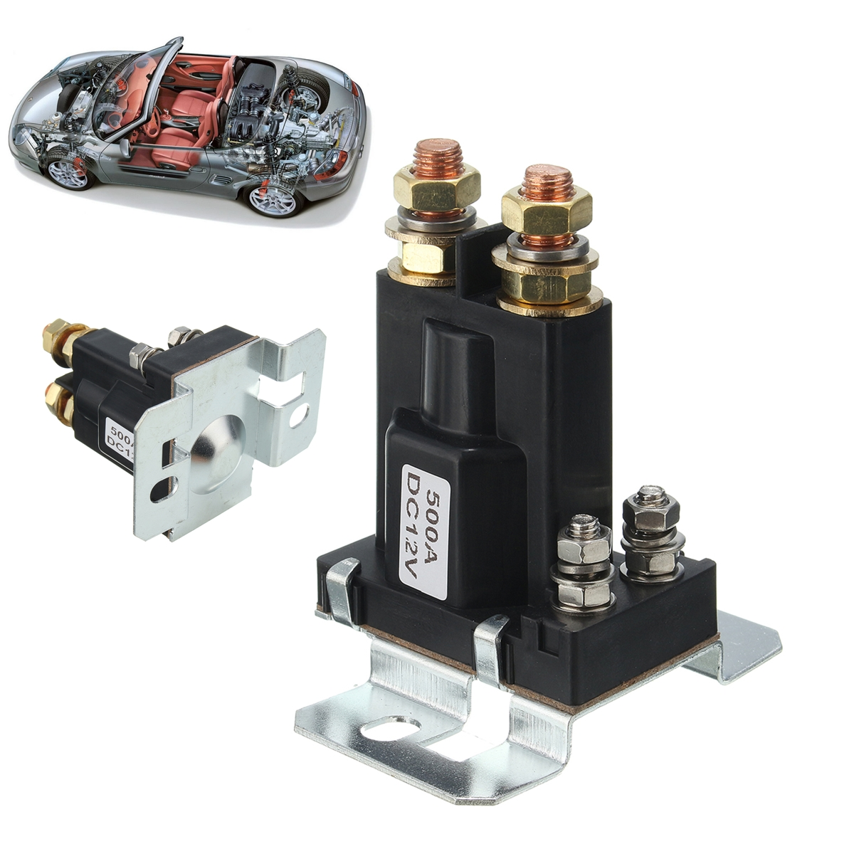 4 Pin Over 500A AMP DC 12V Relay On/Off Car Auto Power Switch Contactor