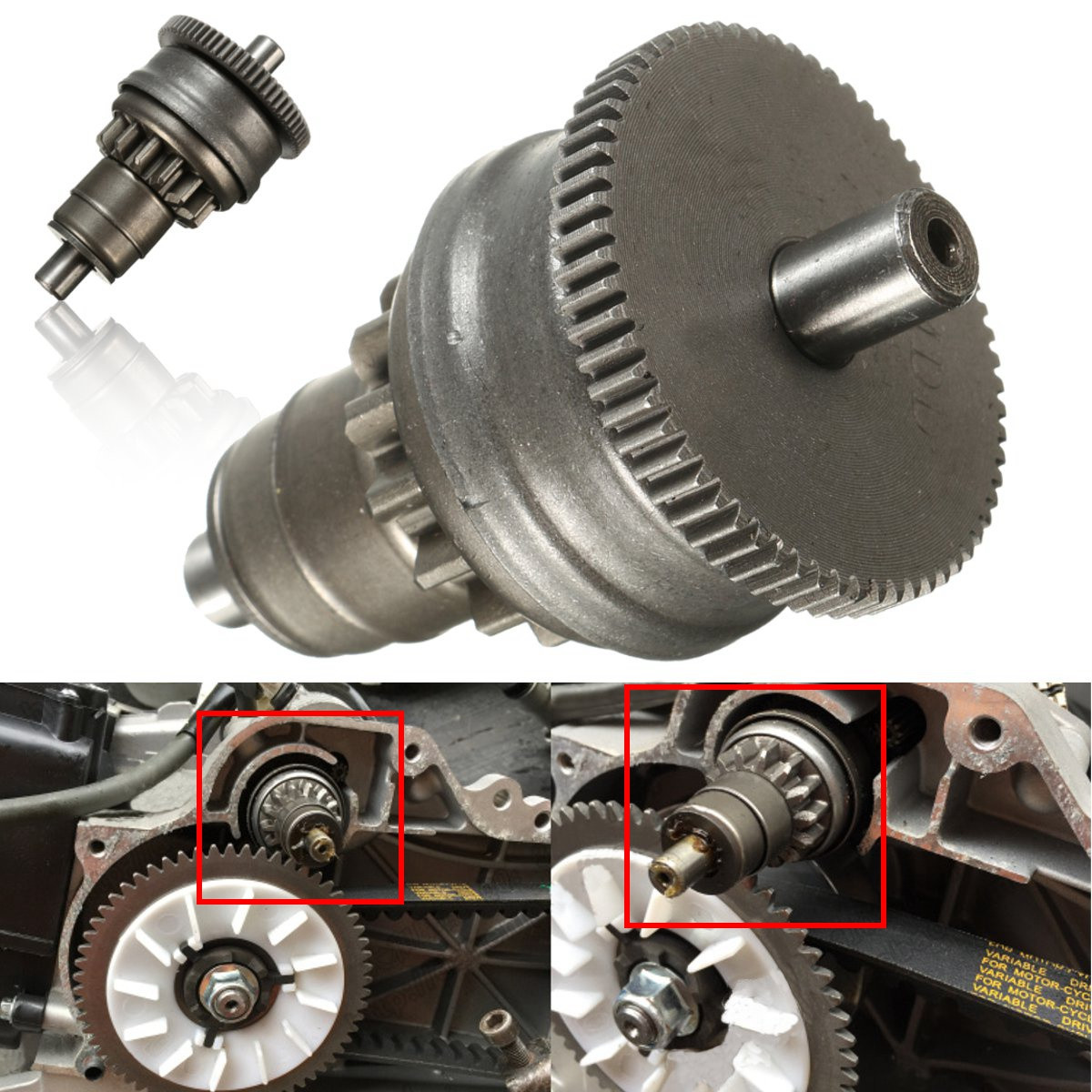 Starter Motor Clutch Gear Assembly For GY6 49cc 50cc 139QMB Scooter Mopeds ATV